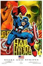 """FRANK CHO SDCC 2016 CAPTAIN AMERICA ART PRINT - Signed & Numbered LE  11""""x17"""""""