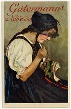 GÜTERMANN'S NÄHSEIDE / SEWING SILK * Werbe-AK um 1910 Ad PC Artist CURT LIEBICH