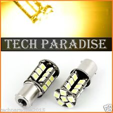 4x Ampoule 27 LED CanBus anti erreur Jaune Yellow Orange PY21W BAU15S RY10W RY5W