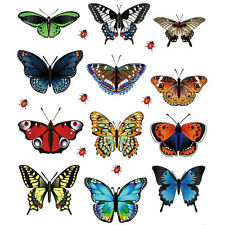 48 Pcs New Landscaping Decoration Heart Shaped Stickers  Butterfly Stickers New@