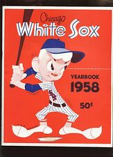 1958 Chicago White Sox Yearbook NRMT