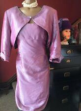 True Vintage Dress Landa Formal 2 Piece Purple Bling Shiny Mother Of The Bride