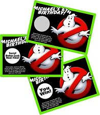 GHOST BUSTERS GHOSTBUSTERS SCRATCH OFF OFFS PARTY GAMES CARDS BIRTHDAY FAVORS