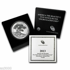 2013-P ATB GREAT BASIN 5 OZ. SILVER SPECIMEN COIN BOX COA SOLD OUT at MINT  !!!