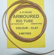 Armoured Rig Tubing 0.75 Bore 2 Mtrs Clay - Carp Coarse