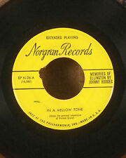 "Johnny Hodges duke ellington 7"" Norgran jazz EP In a mellow tone GD"