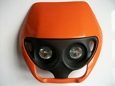 NEW KTM ORANGE UNIVERSAL MOTORCYCLE HEADLIGHT ENDURO MX TRAIL KTM EXC SX SXF XC