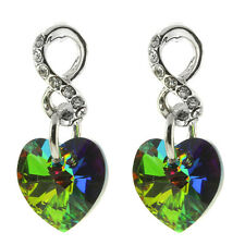 Nirano Collection Green Heart Earring Studs Created with Swarovski® Crystals