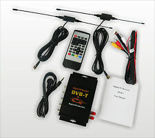 HD Car TV Tuner Mobile DVB-T MPEG-4 Digital TV Receiver Box With Dual antennas