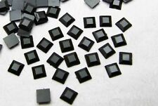 New 200pcs 6mm Acrylic Crystal square Faceted Flat Back Loose beads black1