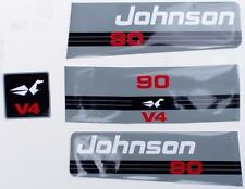 Johnson Outboard Hood Decals V4 1992/94 90/140 hp.