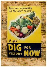 WW2 Retro Poster Metal Sign World War 2 Metal Vintage Style Sign, Reproduction