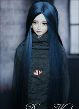 Bjd Doll Wig 1/4 7-8 SD MSD AOD DZ LUTS Dollfie Doll BLUE Toy Head Hair