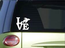 "Betta love sticker *H171* 6"" vinyl fish bowl decal aquarium"