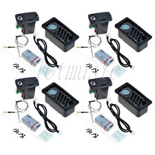4 Sets Preamp EQ-7545T LCD Chromatic Tuner Piezo Pikcup For Slim Body Guitar