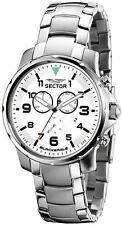 Sector Men's Watch R3273689145 In Collection Black Eagle 46mm Chrono with Whi...
