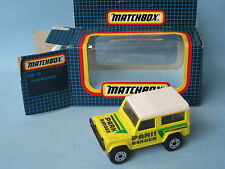 Matchbox Land Rover 90 Defender Park Ranger Yellow Body Boxed 60mm Toy Model Car