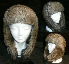 MEN'S OR LADIES RUSSIAN MILITARY STYLE FUR HAT in BROWN (BRAND NEW)