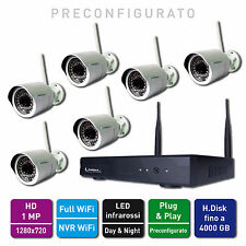 Jenimex Kit Videosorveglianza IP Wifi Entry : NVR 6 Telecamere Wireless HD 1 MP