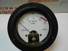 366-041 METER % RATED AMPS 0-125  FS=100MAAC NEW OLD STOCK