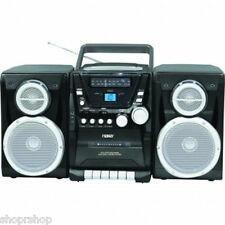 NAXA Portable CD Player with AM-FM Stereo Radio Cassette Player/Recorder & Twin