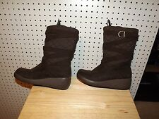 Womens / Junior SO thermal brown wedge Boots ~ size 8.5