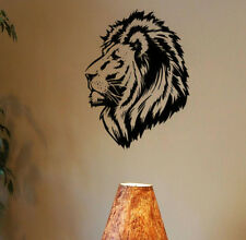 Lion Head Wall Sticker Animal Wall Decal Animals RemovableHome Vinyl Sticker
