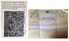 CY TWOMBLY -  SIGNED Leo CASTELLI INVITATION  w/ Rauschenberg TELEGRAM