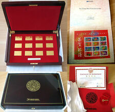 US Postal Service LUNAR NEW YEAR COLLECTION 24K GOLD Plated Stamp Ingots