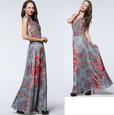 Women lady Long Maxi Sleeveless Summer Formal Evening Party dress Plus Size 24