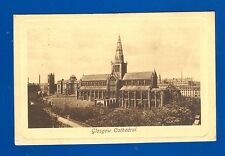 Postcard: Glasgow Cathedral Tuck & son Sepia Plate Marked posted 21 August 1909