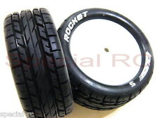 Louise RC 1/10 Buggy Tire Rocket 4WD Front Soft + black insert #L-T3186SI