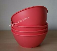 Tupperware Legacy Pinch Cereal Bowl Set 1 3/4 cup Guava New