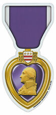 Magnetic Bumper Sticker - Purple Heart Ribbon (Medal) - United States Military