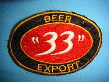 """BL PATCH  LOGO BEER """" 33 """" EXPORT FROM SAIGON BEER FACTORY"""