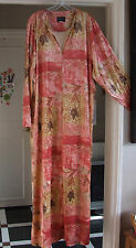 Splendid Long Line Zip-Up Robe Coral-Pink Housecoat Lounge-Wear Dressing Gown XL