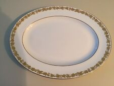 "Wedgwood 15"" Oval Serving Platter Whitehall White Rim"