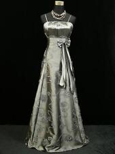 Cherlone Satin Grey Long Sparkly Lace Wedding/Evening Gown Dress UK Size 12-14