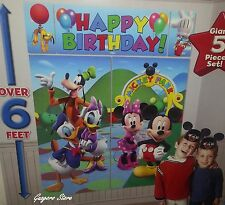 DISNEY MICKEY- MINNIE MOUSE SCENE SETTER BIRTHDAY WALL BANNER PARTY SUPPLY DECOR