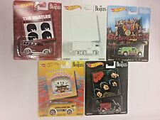 The Beatles 5 Car Set 2017 Hot Wheels Pop Culture Case H - In Stock