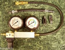 ENGINE CYLINDER LEAK DOWN TESTER KIT w/CASE test motor pressure air loss leaking