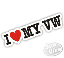 I Heart Love My VW Volkswagen Dub Golf Beetle Passat Car Van Sticker Decal