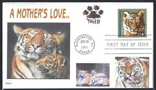 TIGER  WITH  CUBS   A MOTHER'S LOVE        FDC- DWc  CACHET