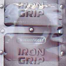 Caution Wear Iron Grip Snugger Fit Silicone-Based Lubricated Condoms 100-Pack