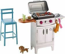 Barbie BBQ Grill Fun Playset With Puppy Dog for Barbie dolls New