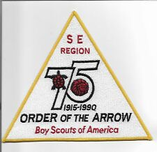 Southeast Regions Order of the Arrow 75th Anniversary Jacket patch