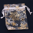 50xHotsell Nice Organza White Snowflake Wedding Favours/XMAS Gift Bags 5x7cm L
