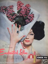 PUBLICITÉ 1957 CHEN YU ENCHANTED LILAC ROUGE À LÈVRES - ADVERTISING