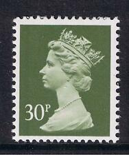 GB QEII Machin Definitive Stamp. SG X980 30p Deep Olive-Grey.  PP. MNH
