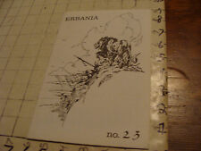 vintage Original ZINE: ERBANIA #23 may 1968; d peter Ogden; TARZAN related